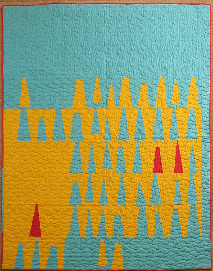 """2015 Charity Quilt, """"Castles in the Sand"""""""